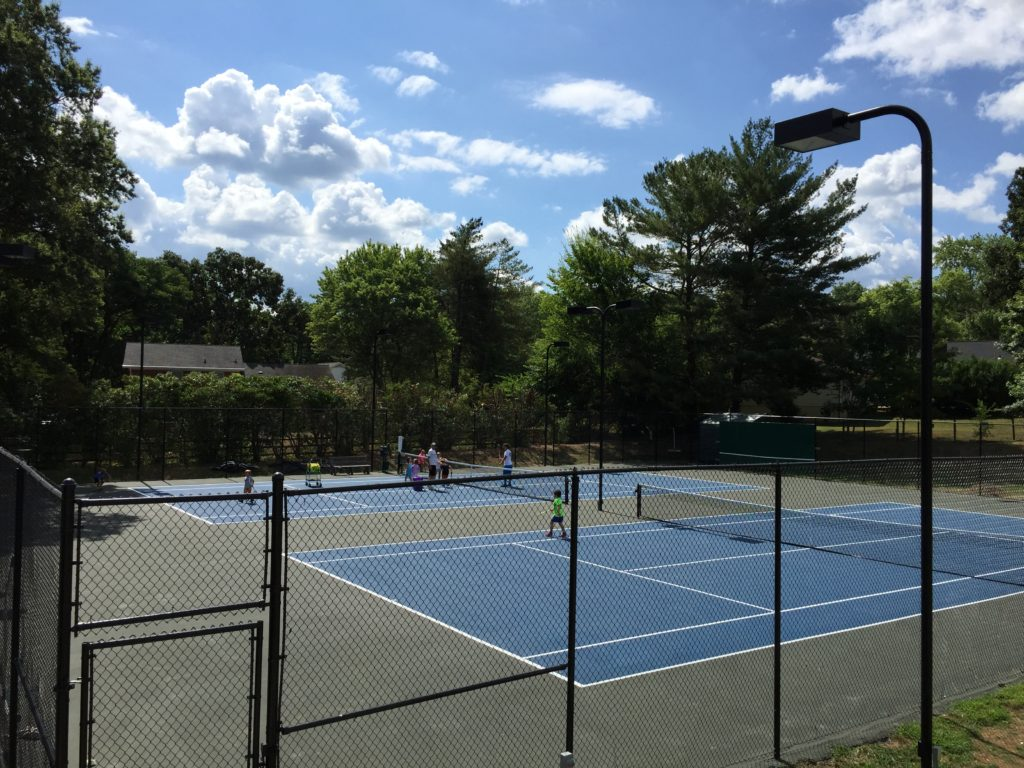Campers on the courts